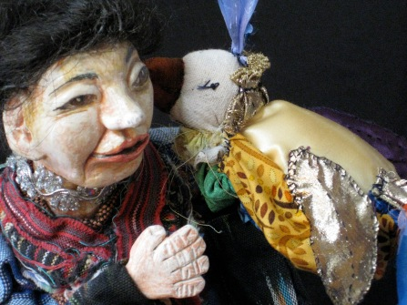 Woman puppet, and the Bird