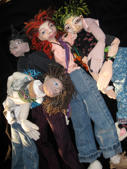 """Morgan and her friends, from """"Morgan's Extraordinary Day"""", a short play"""