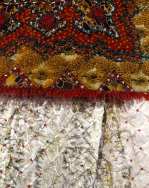detail from collar and reverse embroidery,