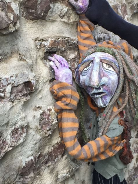 """Table Top Puppet, for Lady of Shallot's series. """"By the wall, I'll wait to take you to the other side."""""""